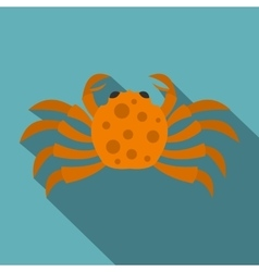 Orange crab icon flat style vector image