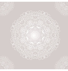 Ornamental round lace with damask and arabesque vector