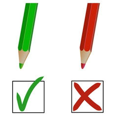 pencil marks vector image vector image