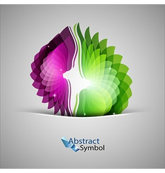 Purple and green shape vector