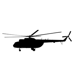 Silhouette of the helicopter vector image