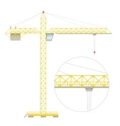 Simple flat crane vector
