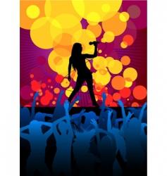 singer girl vector image vector image