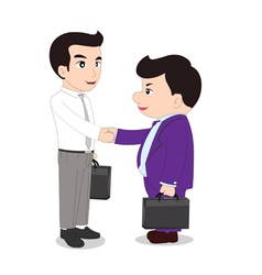 special handshake vector image vector image