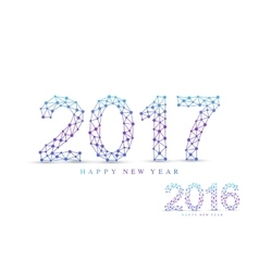 Text design christmas and happy new year 2017 or vector