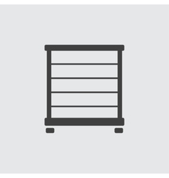 Towel rail icon vector image vector image