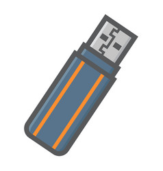 Usb flash drive colorful line icon vector