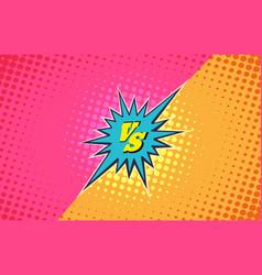 versus duel fighting background vector image vector image
