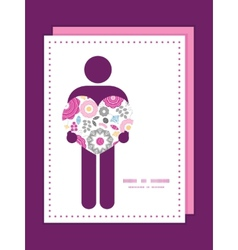 Vibrant floral scaterred man in love silhouette vector