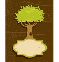 vintage of the tree vector image vector image