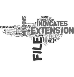 whats that file text word cloud concept vector image vector image