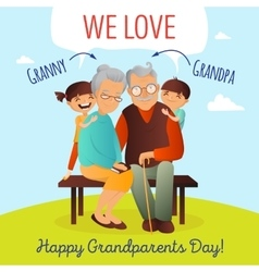 Grandparents day concept with vector