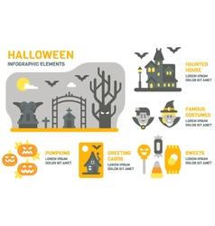 Flat design halloween infographic vector