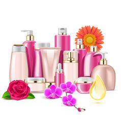Flower cosmetics vector