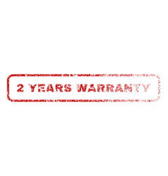2 years warranty rubber stamp vector