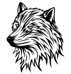 wolf head vector image