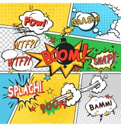 Comic set background vector