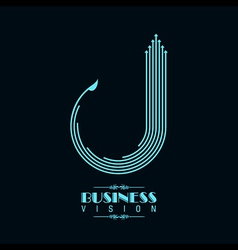 Blue arrow icon for business vector