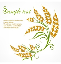 Stylized wheat pattern  text vector