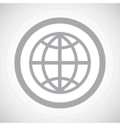 Grey globe sign icon vector