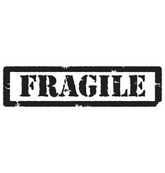 Black stamp fragile vector image