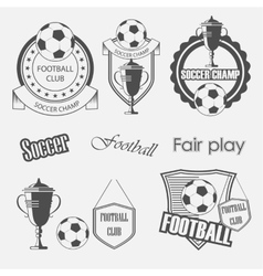 Soccer football crests and emblem designs vector