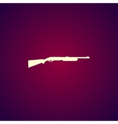 Shotgun icon vector