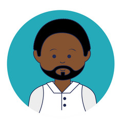 african man ethnicity avatar character vector image