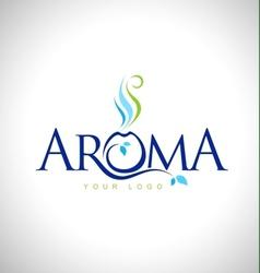 Aroma therapy logo design vector