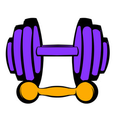 Barbell and dumbbells icon icon cartoon vector