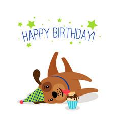 Birthday puppy portrait vector