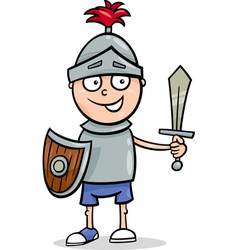 boy in knight costume cartoon vector image