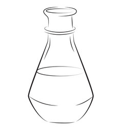 cartoon image of flask icon laboratory symbol vector image