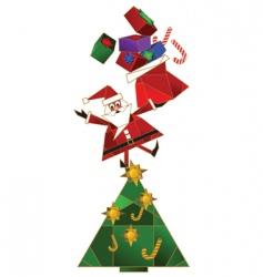 cartoon Santa background vector image vector image