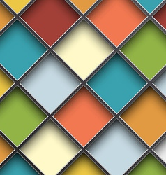 Colorful square cells vector