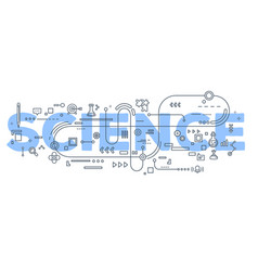 creative of science word lettering vector image