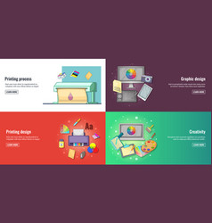 creative process graphic design or web design vector image