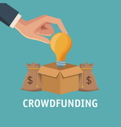 Crowfunding and business vector