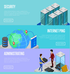 Data cloud security and administration posters vector