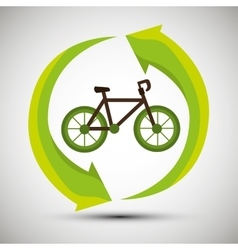 ecological concept bike trasnport icon vector image