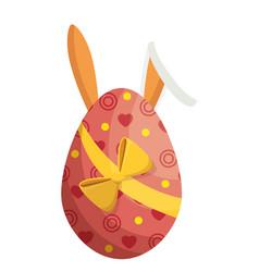 Egg easter bunny decor vector