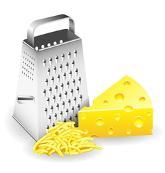Grater and Cheese vector image