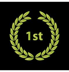 Green laurel wreath symbol victory eps10 vector
