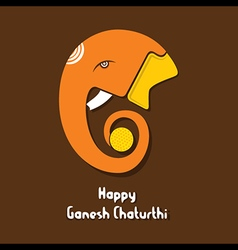 Happy ganesh chaturthi festival greeting card or p vector