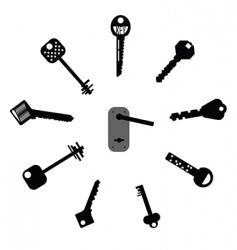 Mixed keys vector