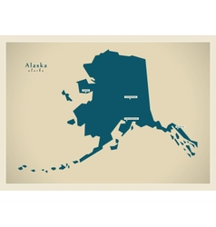 Modern map usa alaska vector