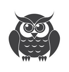 Owl silhouette vector