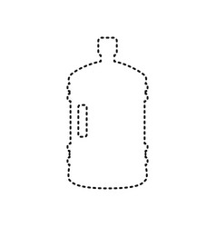plastic bottle silhouette sign black vector image