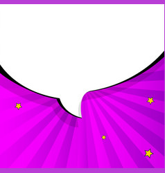 Pop art chat bubble in comics book style blank vector