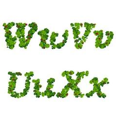 Saint Patricks Day font vector image